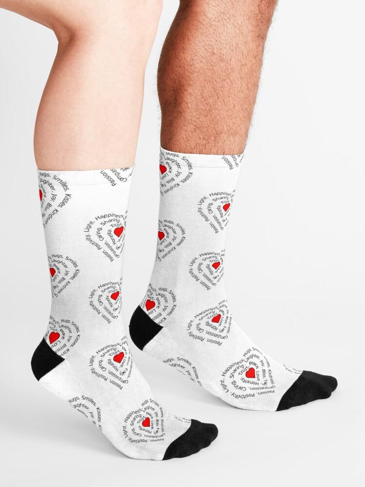 Alternate view of LOVE Spiral Heart Socks
