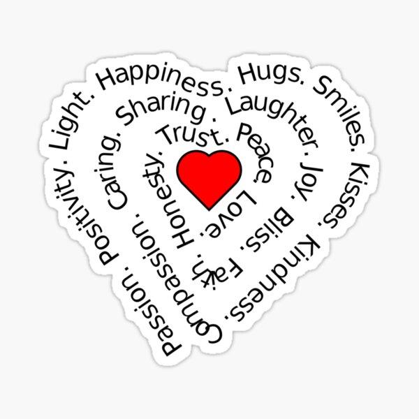 LOVE Spiral Heart Sticker