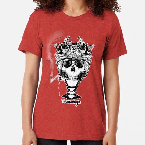 Skeleton Biker Tri-blend T-Shirt