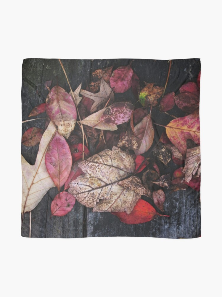 Alternate view of Collage Of Autumn Red Scarf