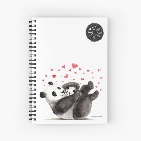 Giant Panda Mother and Baby cuddling Spiral Notebook