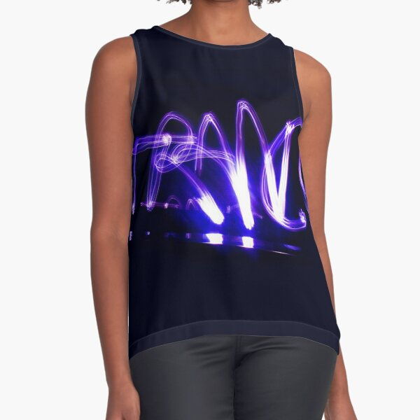 Light Painting Trance Sleeveless Top