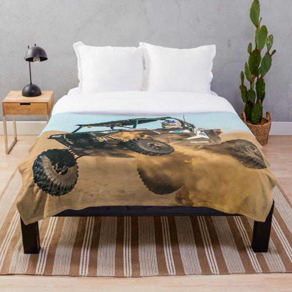 Flying Dune Buggy Throw Blanket