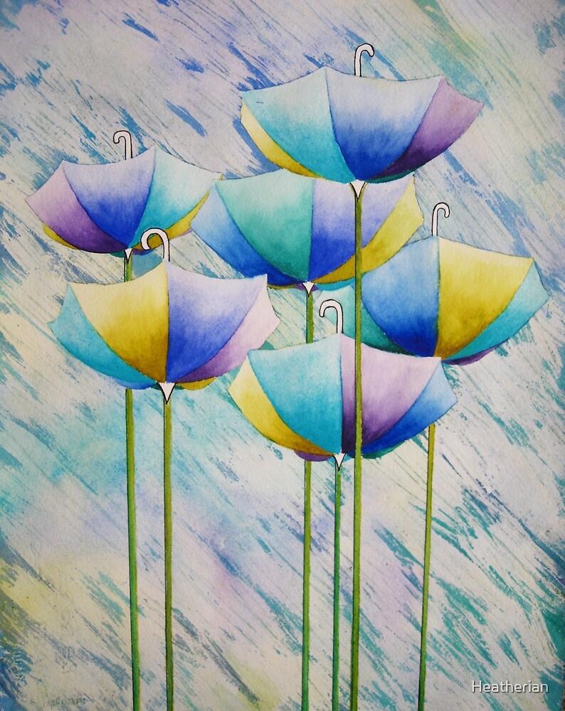 Umbrella Garden  by Heatherian