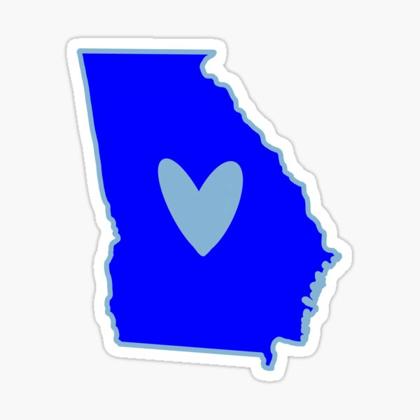 Georgia Blue Democrat Joe Biden Kamala Harris President Sticker