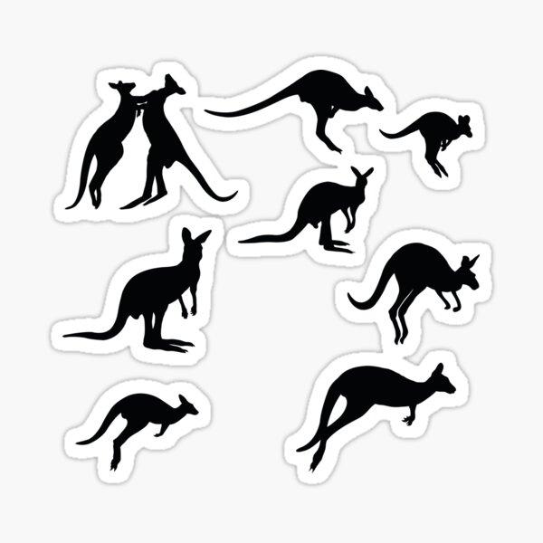 Kangaroos Black And White Sticker