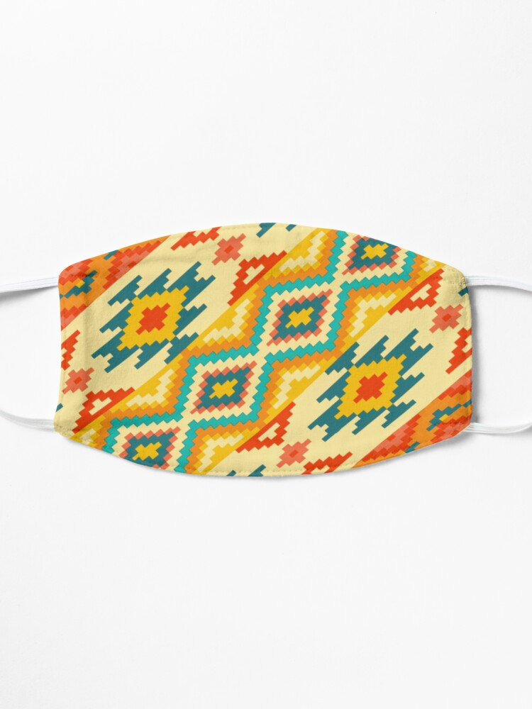 Alternate view of Mexican Handcraft Pattern Mask