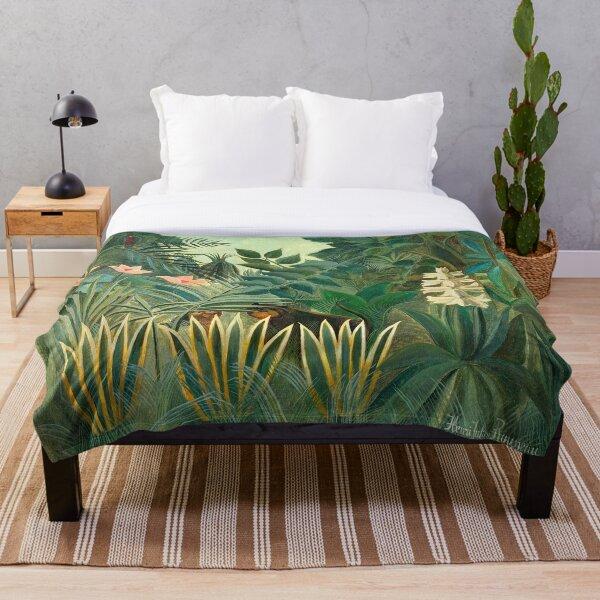 Henri Rousseau The Equatorial Jungle, 1909 Throw Blanket