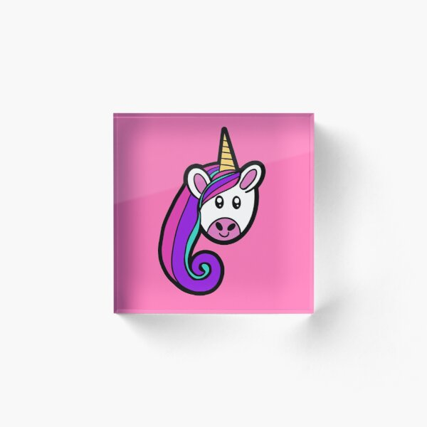 Unicorn Pastel Princess Acrylic Block