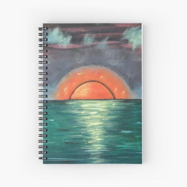 Orange Sun Over Water Spiral Notebook