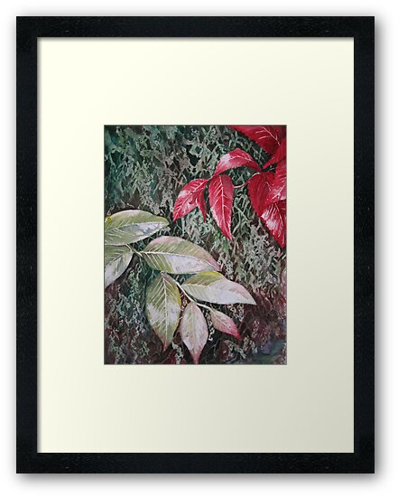 Tropical Foliage Watercolour Painting by Heatherian