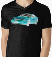 2003 FORD MUSTANG GT CHROME BLUE Men's V-Neck T-Shirt