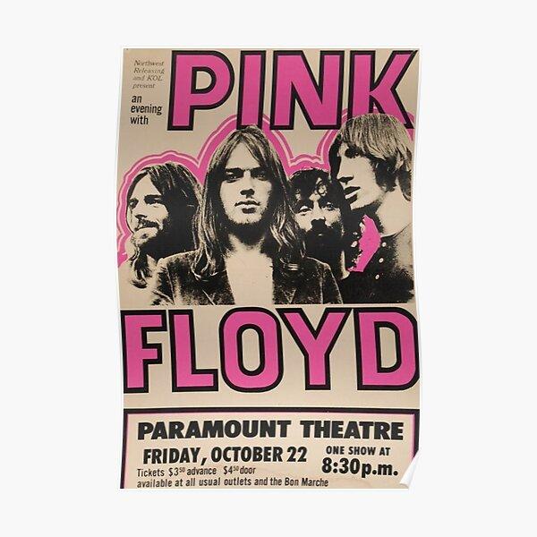 affiche de concert de pink floyd Poster