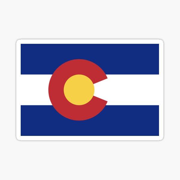 Flag of Colorado / CO / Coloradan / Coloradoan Official State Flag (USA) Sticker