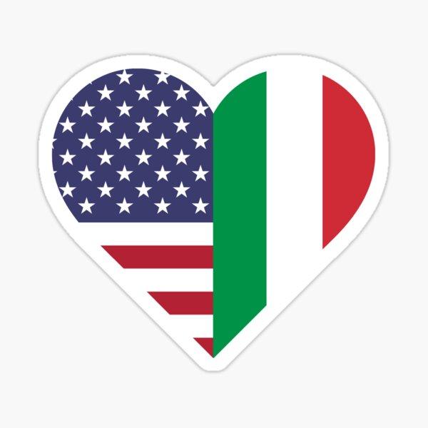 Italian American Love Sticker