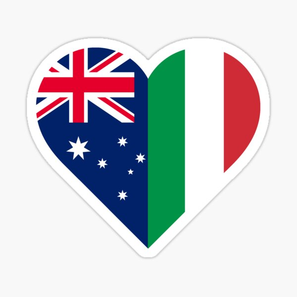 Italian Australian Love Sticker