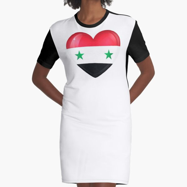 My Heart is Only Syria  Graphic T-Shirt Dress