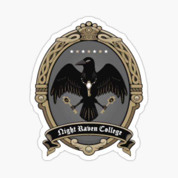 Night Raven College Sticker