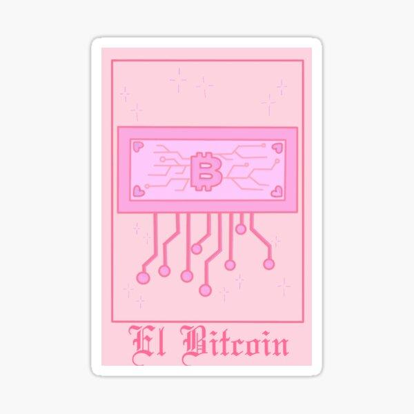 Kawaii Tarot Card El Bitcoin  Sticker