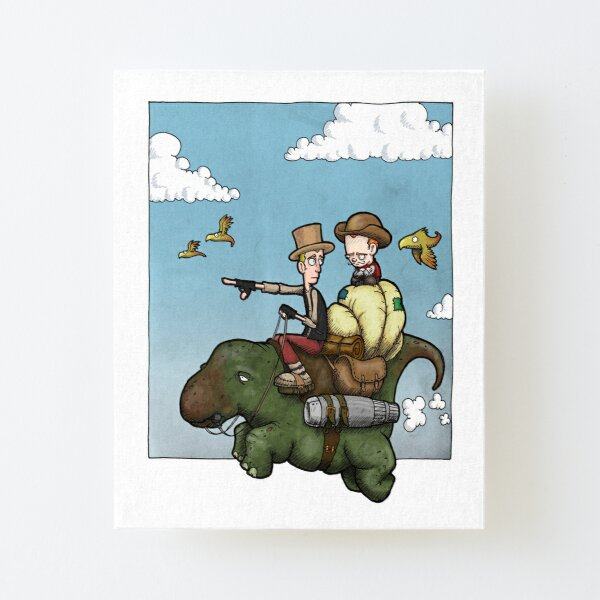 On route to an adventure. Canvas Mounted Print