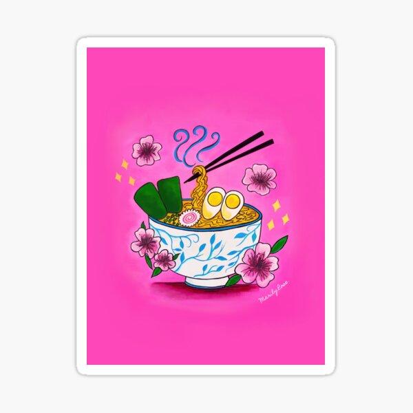 Cherry Blossoms and Ramen  Sticker
