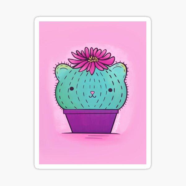 Cat Cacti  Sticker