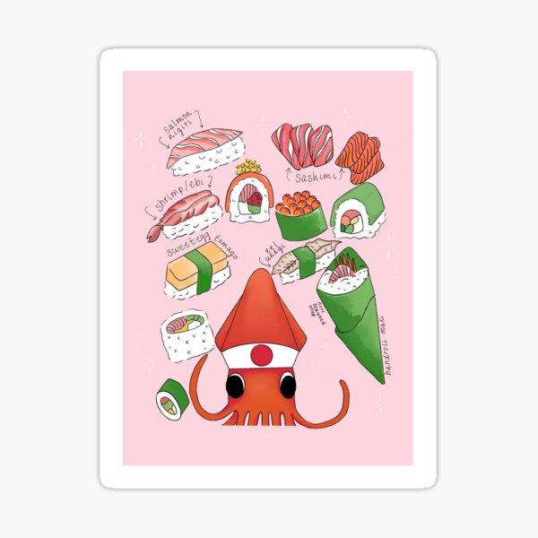 Squid Sushi Chef  Sticker