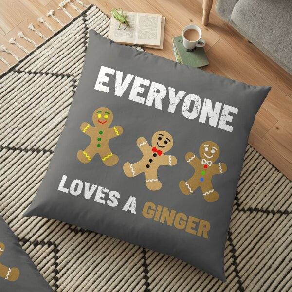Everyone Loves a Ginger Cute Gingerbread Cookies Floor Pillow