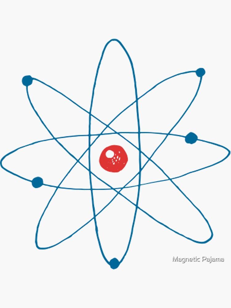 Atom - Newtonian Physics Retro Science Nerd by MagneticMama
