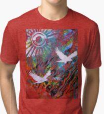 Flying Free Monoprint Tri-blend T-Shirt