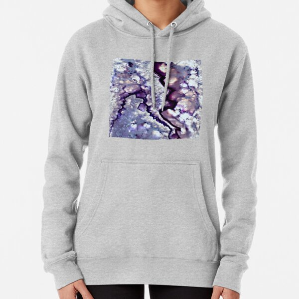 Abstract Acrylic Pour Designs Pullover Hoodie