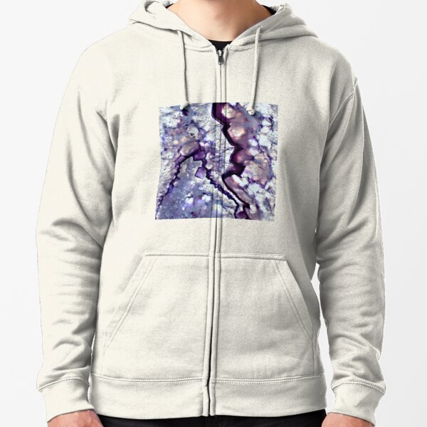 Abstract Acrylic Pour Designs Zipped Hoodie