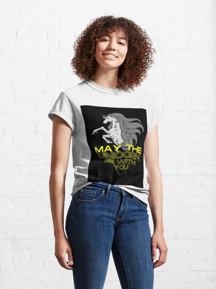 Alternate view of May the Unicorn Be with You Classic T-Shirt