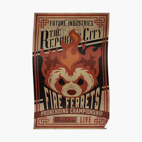 Fire Ferrets Vintage Boxing  Poster