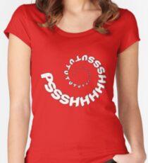 PSHHSUTUTU - Turbo Dose Boost Noise JDM Window Sticker / Tee - White Women's Fitted Scoop T-Shirt