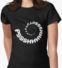 PSHHSUTUTU - Turbo Dose Boost Noise JDM Window Sticker / Tee - White Womens Fitted T-Shirt