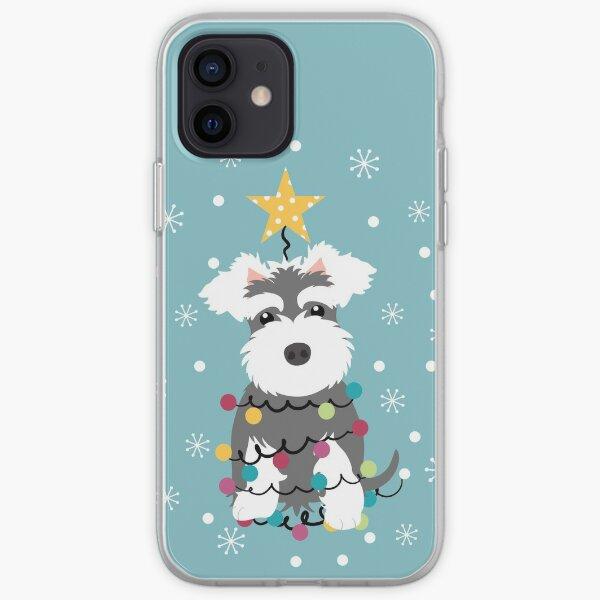 Miniature Schnauzer Christmas Tree iPhone Soft Case