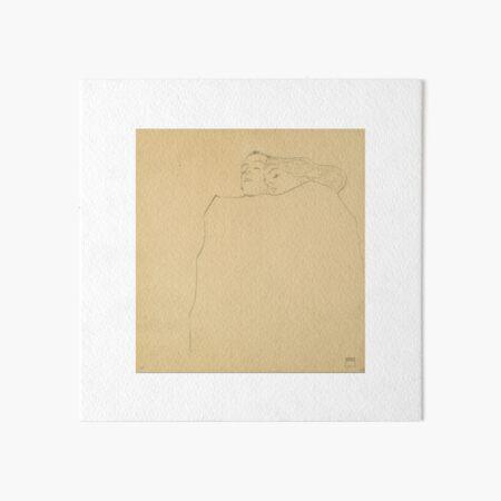 Egon Schiele - SLEEPING COUPLE Art Board Print