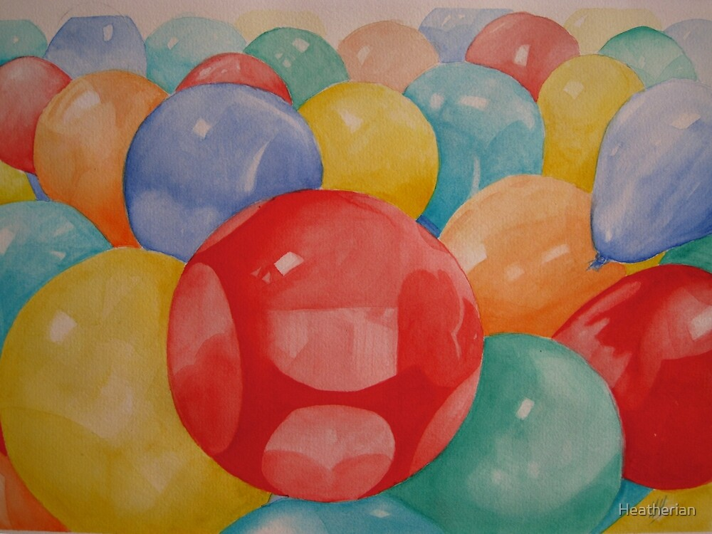 Party Time Watercolour Painting by Heatherian