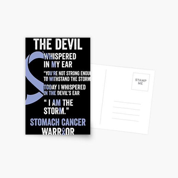 The Devil- Stomach Cancer Awareness Gifts for Women Stomach Cancer Support Ribbon Postcard