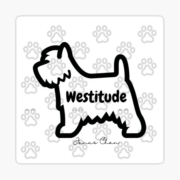 The Westitude Footsteps Sticker