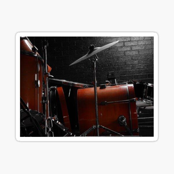 A Drum In Orange Sticker