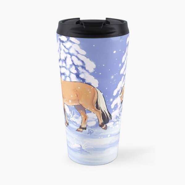 Fjords in Snow Travel Mug