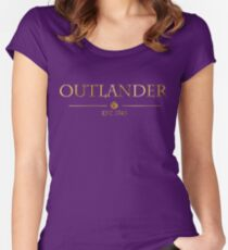 Outlander est 1743 (GOLD) Women's Fitted Scoop T-Shirt