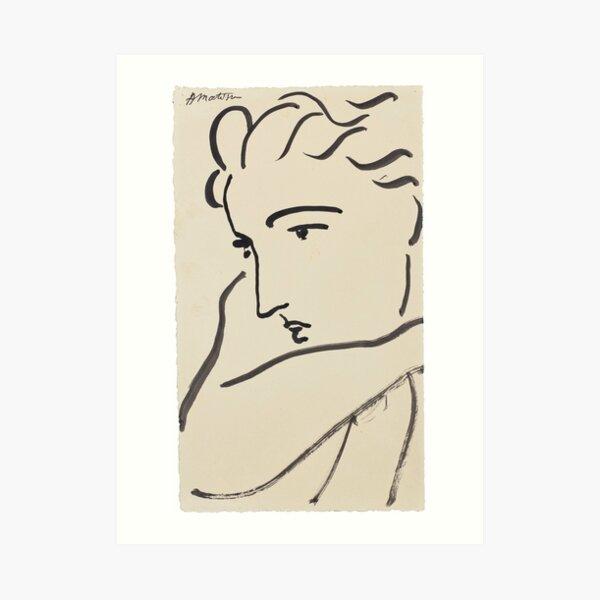 Henri Matisse - Profil de Femme Impression artistique