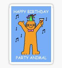 Children's Birthday Party Animal Cat Sticker