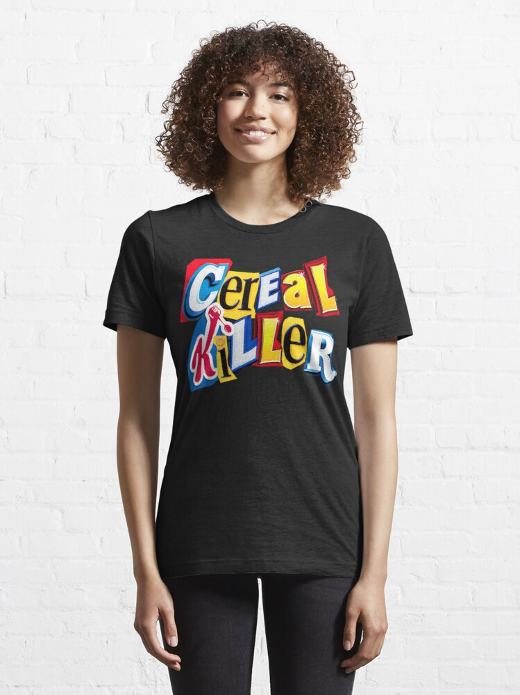 Alternate view of Cereal Killer Ransom Note Essential T-Shirt