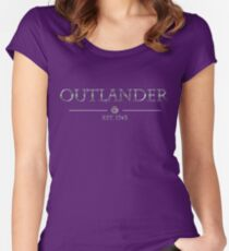 Outlander est 1743 (SILVER) Women's Fitted Scoop T-Shirt
