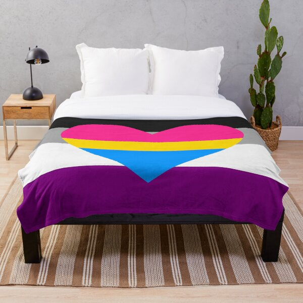 Ace and panromantic Throw Blanket