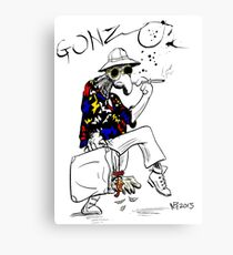 Gonzo- Fear and Loathing in Las Vegas parody Canvas Print